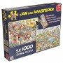 Jan van Haasteren Food Frenzy, 2 x 1000pc Jigsaw Puzzle