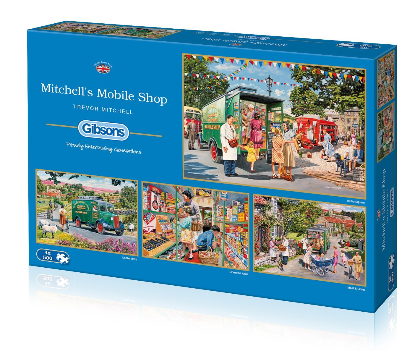 Mitchell's Mobile Shop, 4 x 500pc Puzzles
