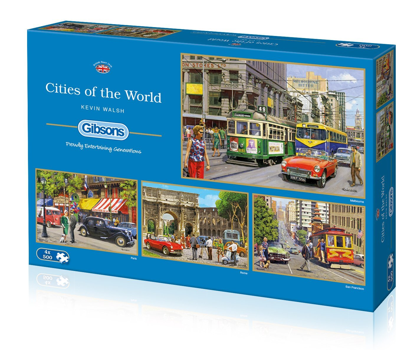 Cities Of The World, 4 x 500pc Puzzles