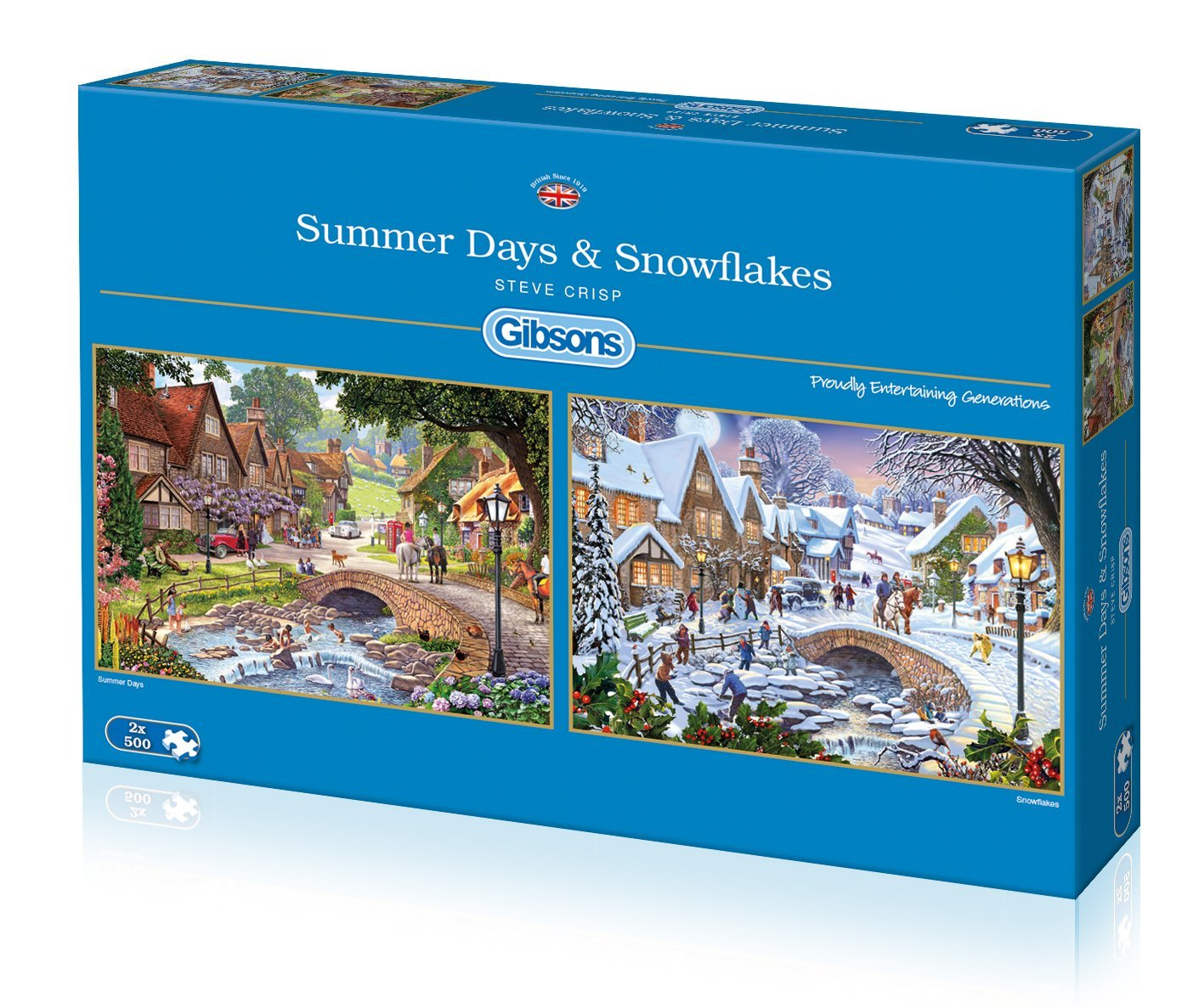 Summer Days And Snowflakes, 2 X 500pc puzzles
