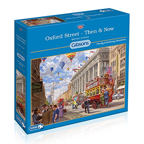 Oxford Street - Then And Now, 1000pc Puzzle