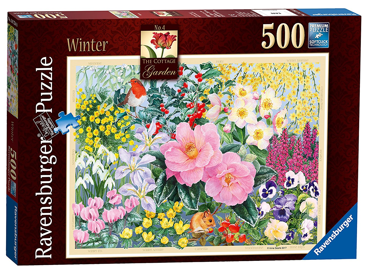 Cottage Garden, Winter, 500pc