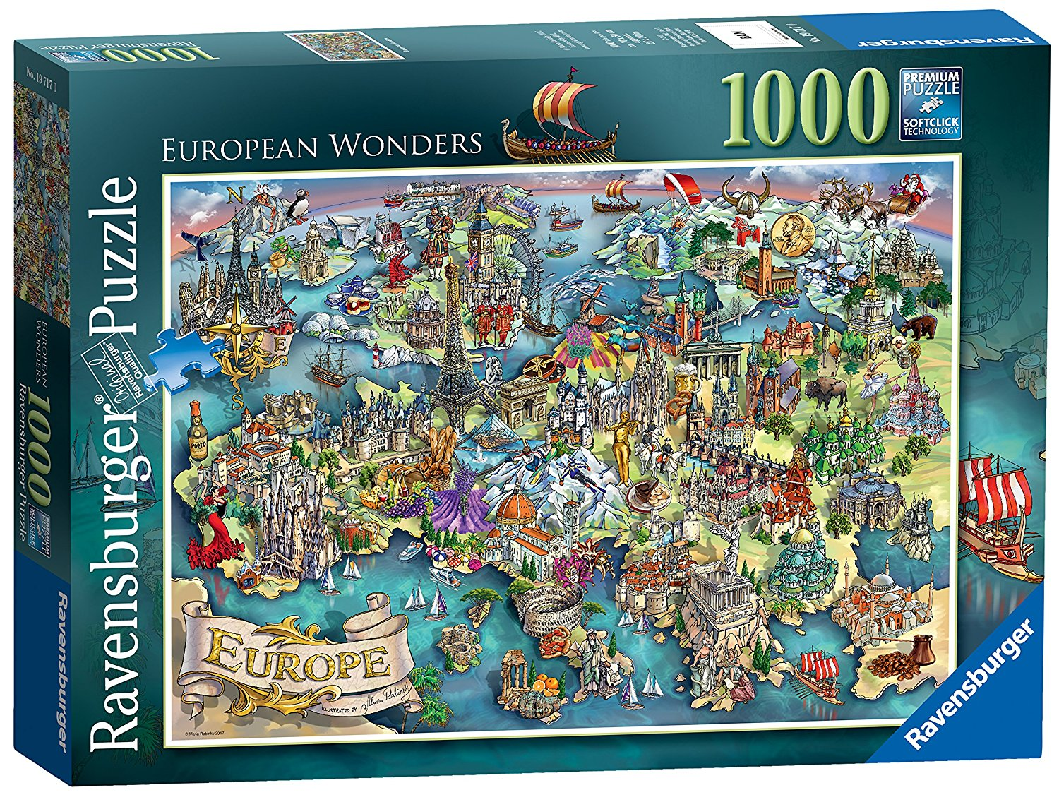 European Wonders, 1000pc
