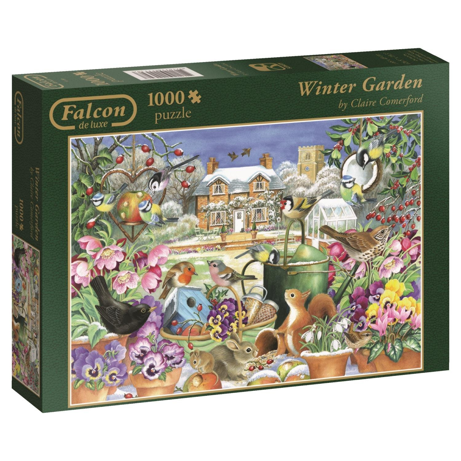 Falcon, Winter Garden, 1000pc Jumbo Jigsaw Puzzle