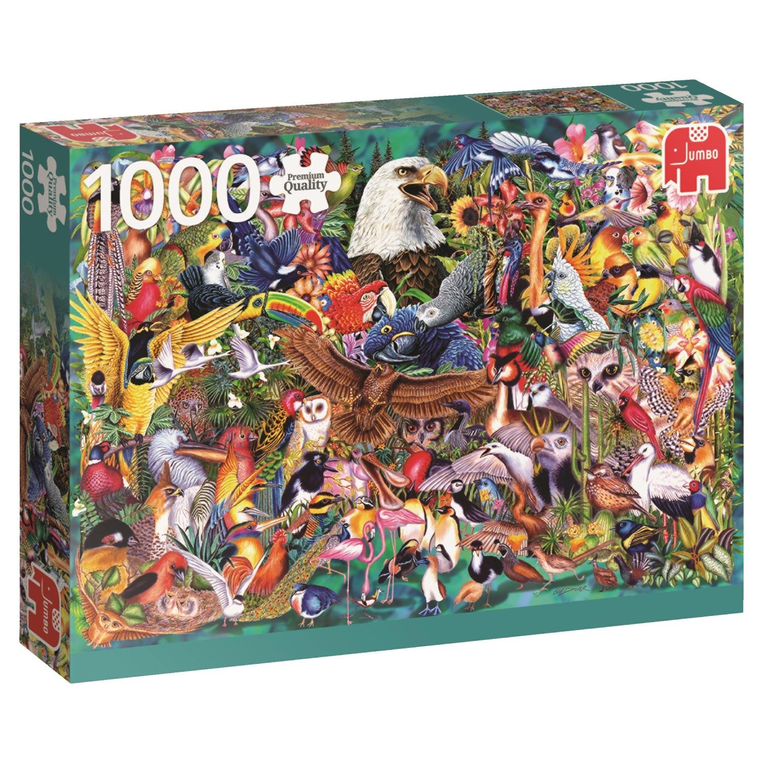 Falcon, Animal Kingdom, 1000pc Jumbo Jigsaw Puzzle