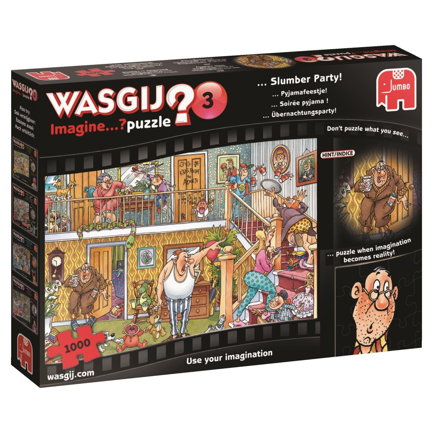 Wasgij - Imagine 3, Slumber Party, 1000pc Jigsaw Puzzle