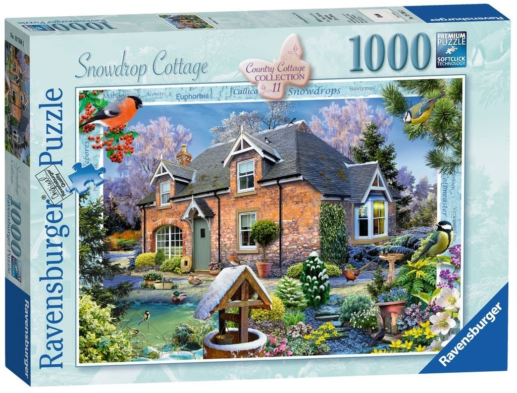 Country Cottage Collection, Snowdrop Cottage, 1000pc