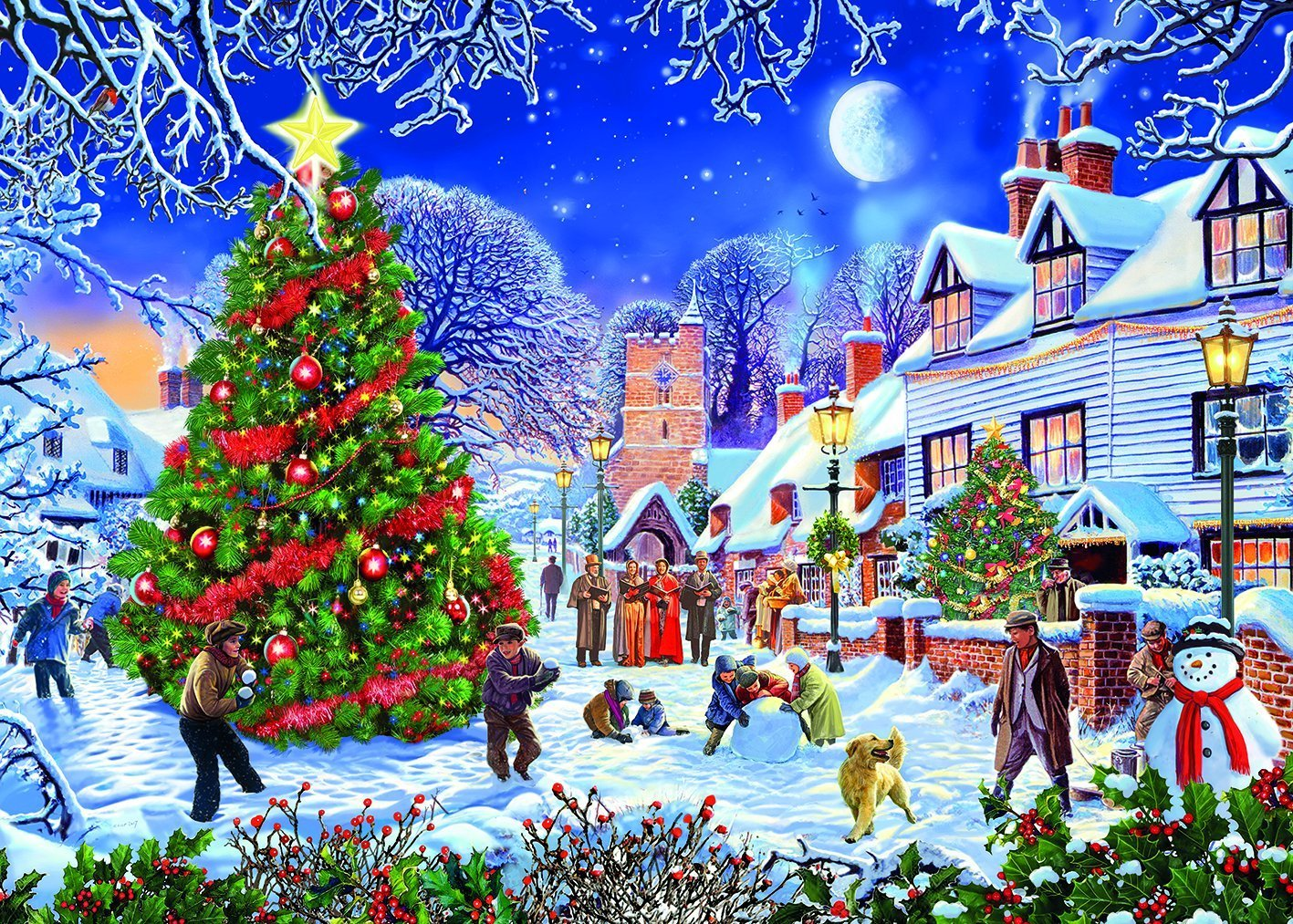 The Village Christmas Tree, 500 XL Puzzle