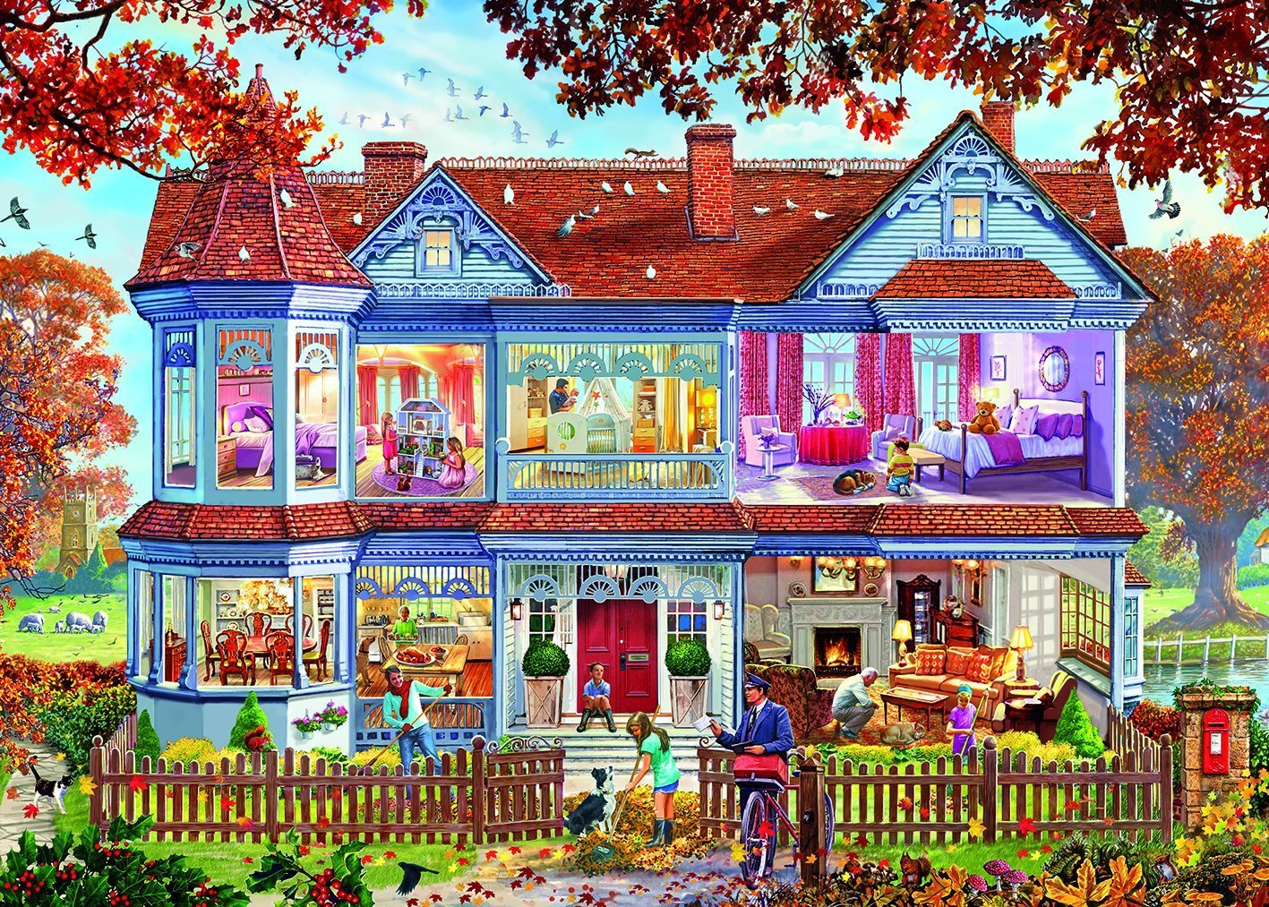 Autumn Home, 1000pc Puzzle