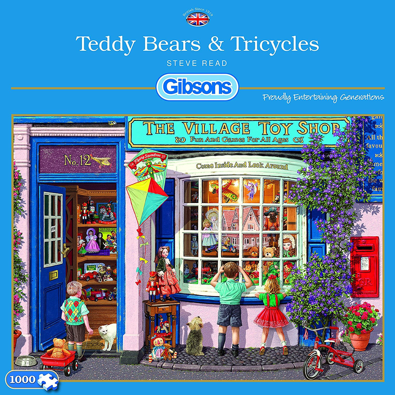 Teddy Bears And Tricycles, 1000pc puzzle