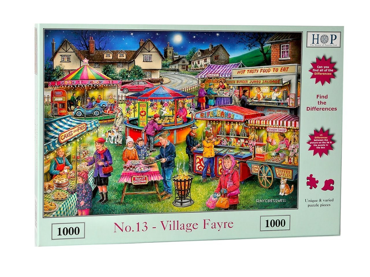 Village Fayre, Find The Differences, No13, 1000pc