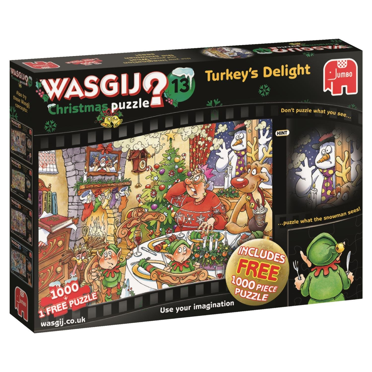 Wasgij Christmas 13, Turkey's Delight Jigsaw Puzzle, (2 x 1000-Piece)