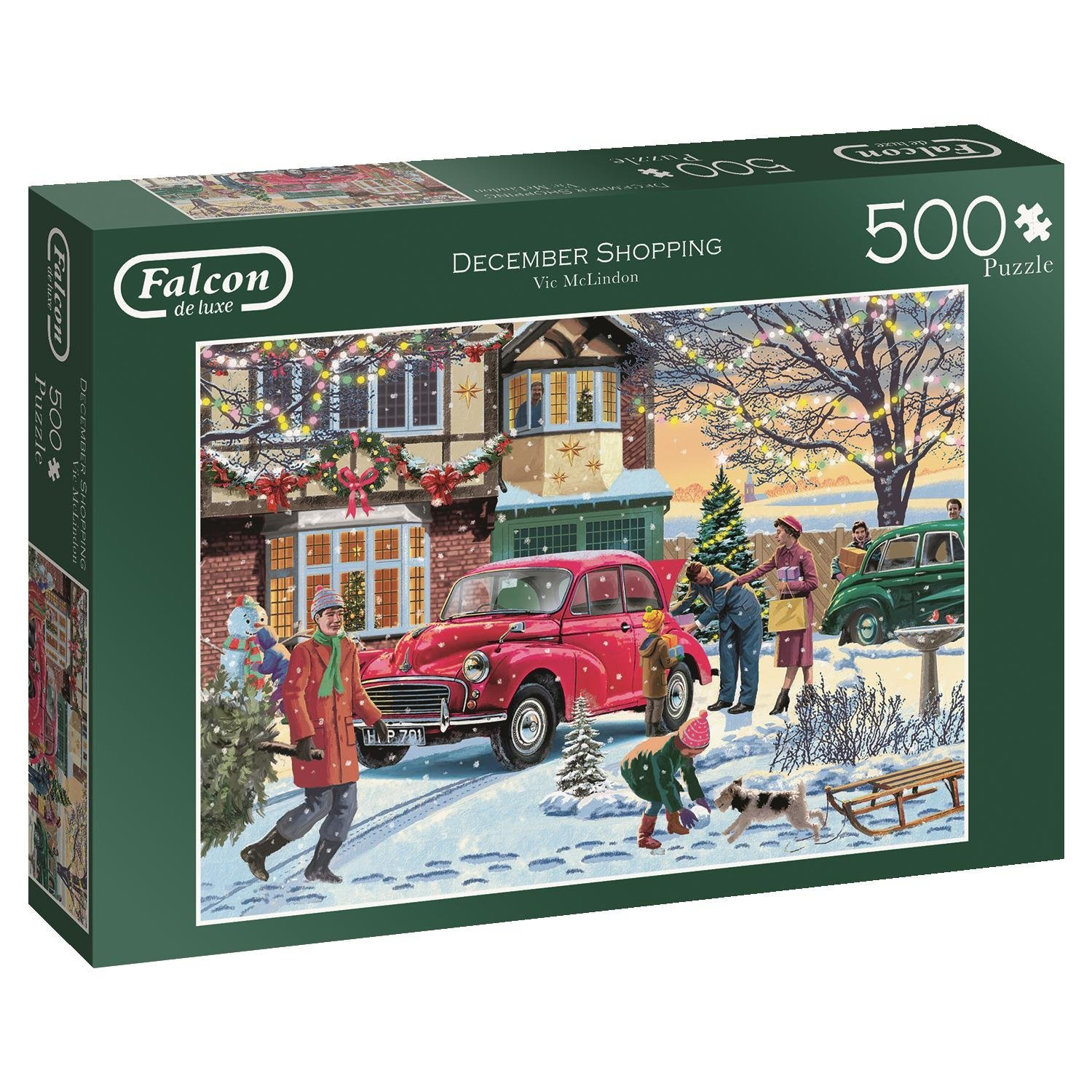 Falcon De Luxe, December Shopping, Jumbo 500pc Jigsaw Puzzle
