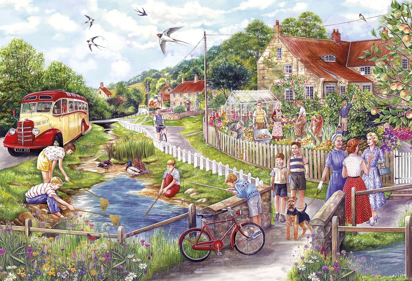 Summer By The Stream, 250 XL Puzzle