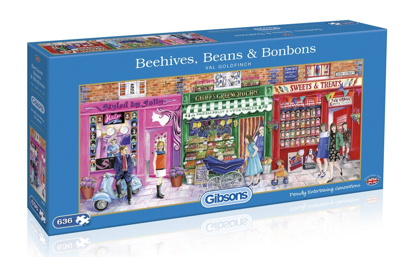 Beehives, Beans And Bonbons, 636pc puzzle