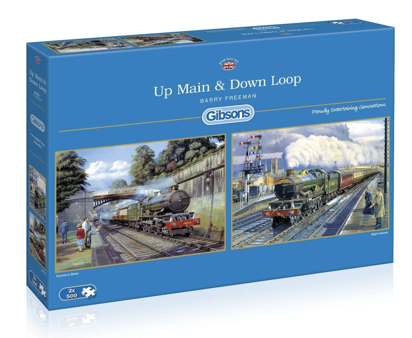 Up Main And Down Loop, 2 X 500pc puzzles