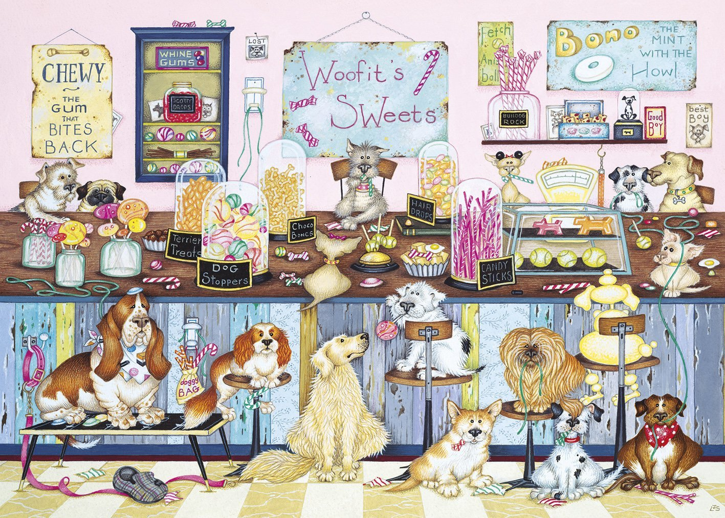 Woofit's Sweet Shop, 1000pc Puzzle