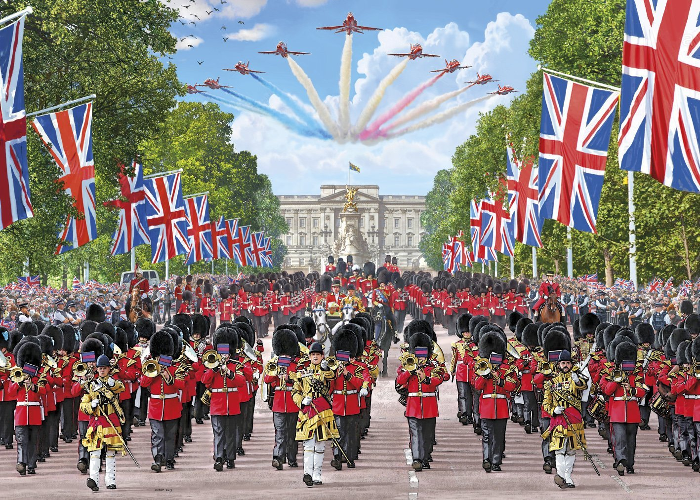 Trooping The Colour,  1000pc Puzzle