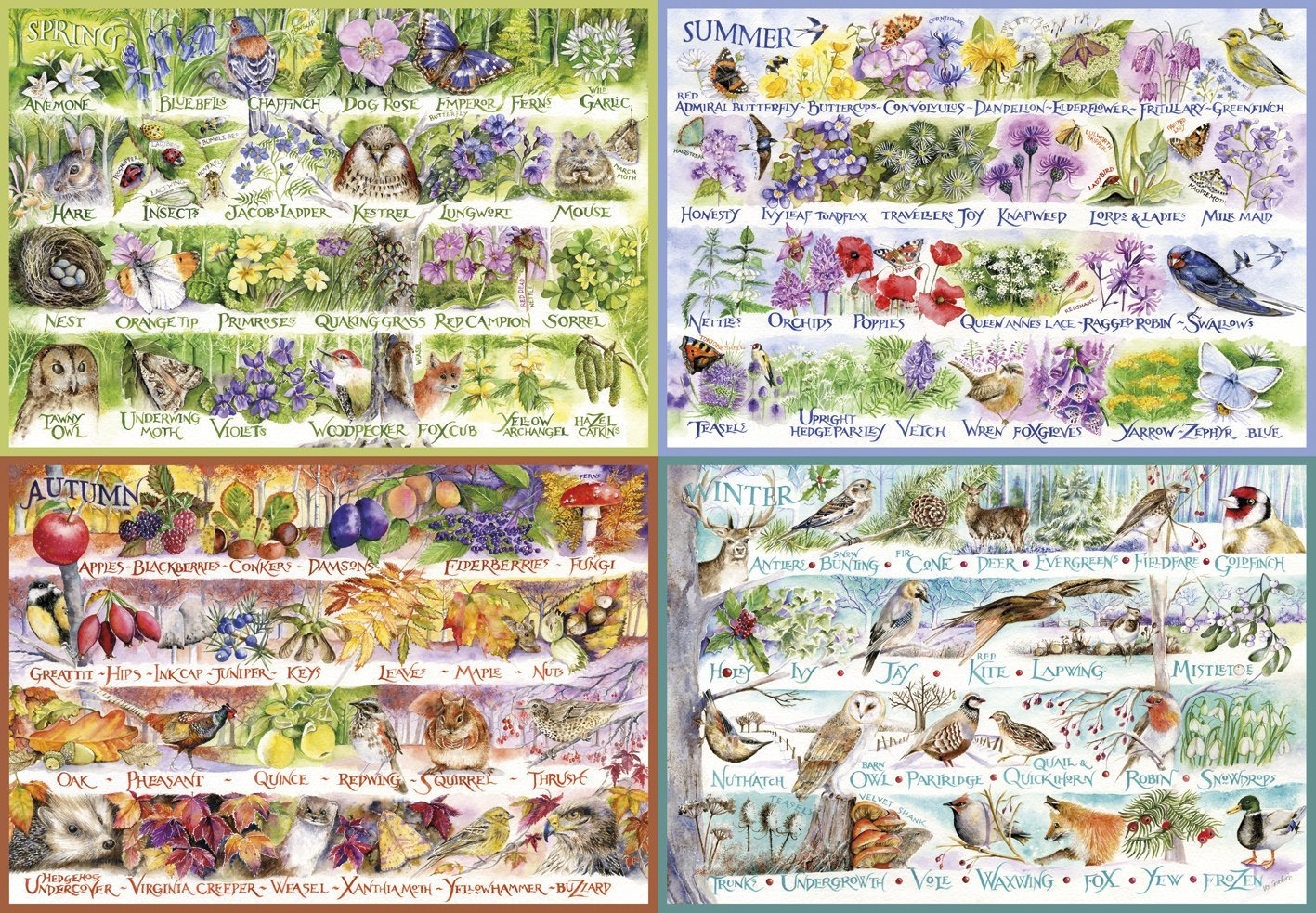 Woodland Seasons, 2000pc Puzzle