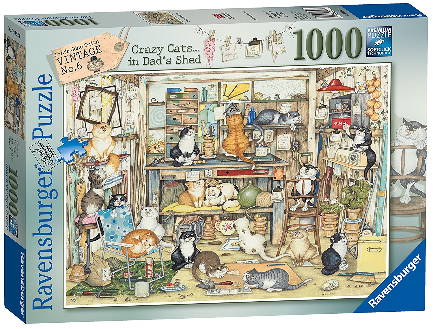 Crazy Cats, Dad's Shed, 1000pc
