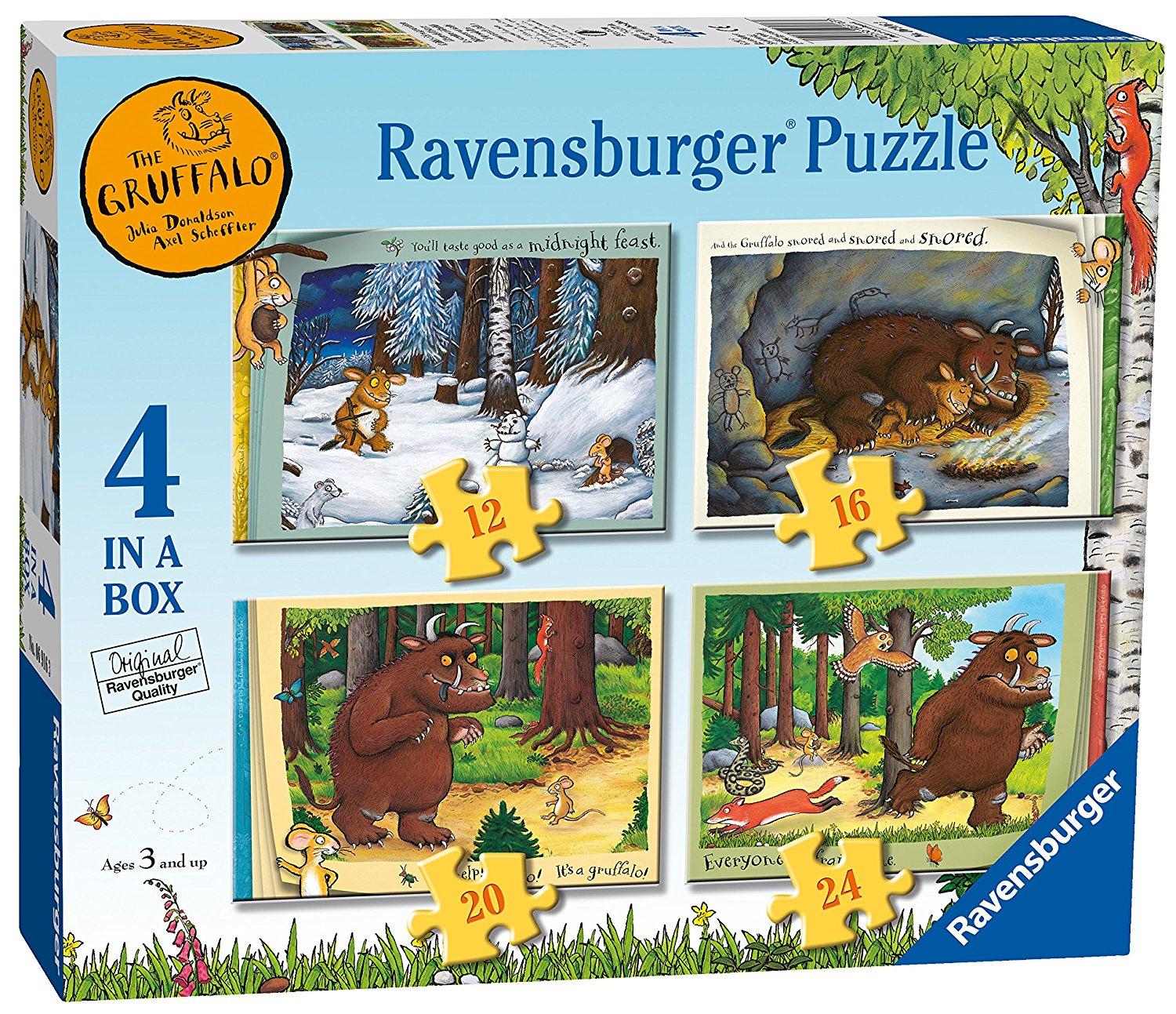 Gruffalo 4 in Box, 12pc, 16pc, 20pc & 24pc