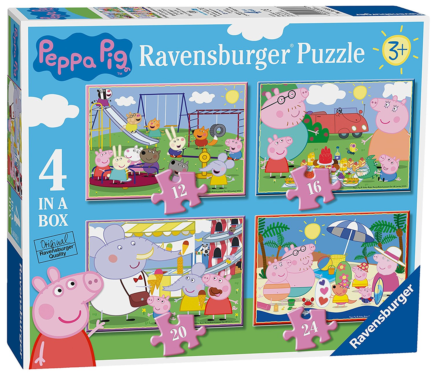 Peppa Pig 4 in Box, 12pc, 16pc, 20pc & 24pc