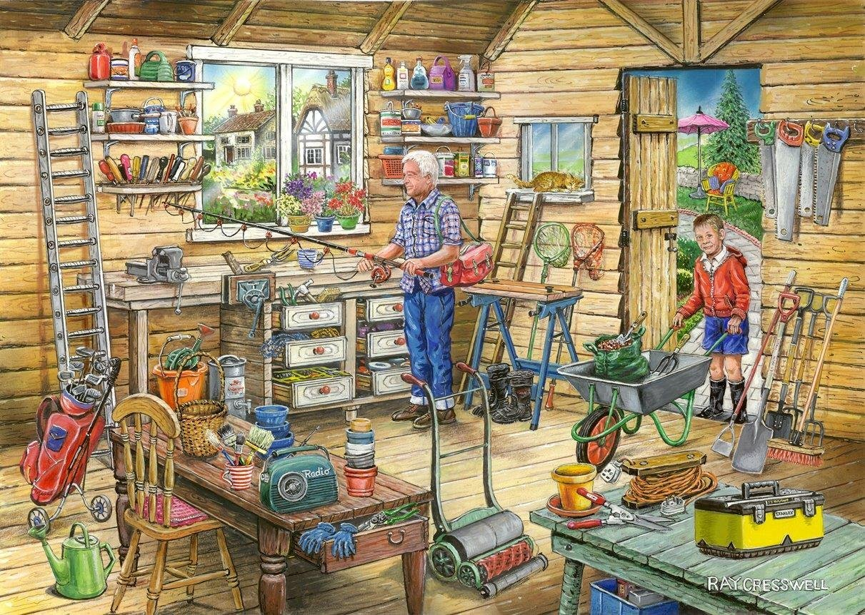 Fred's Shed, Find The Differences, No14, 1000pc