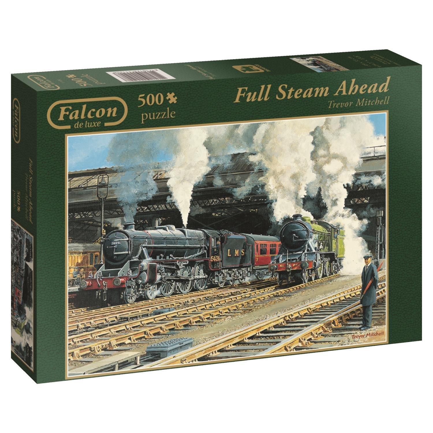 Falcon De Luxe, Full Steam Ahead, jumbo 500pc Jigsaw Puzzle