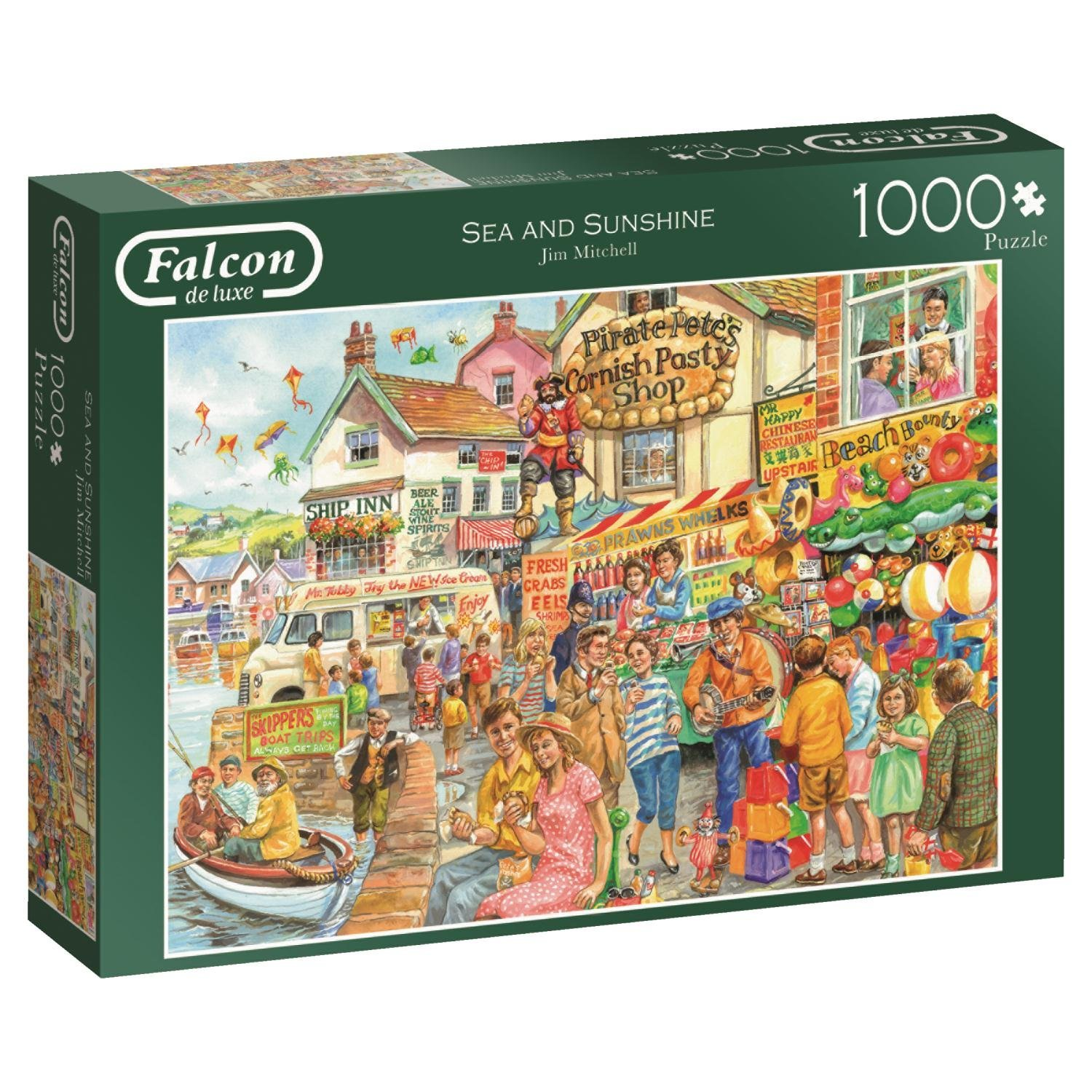 Falcon, Sea And Sunshine, 1000pc Jumbo Jigsaw Puzzle