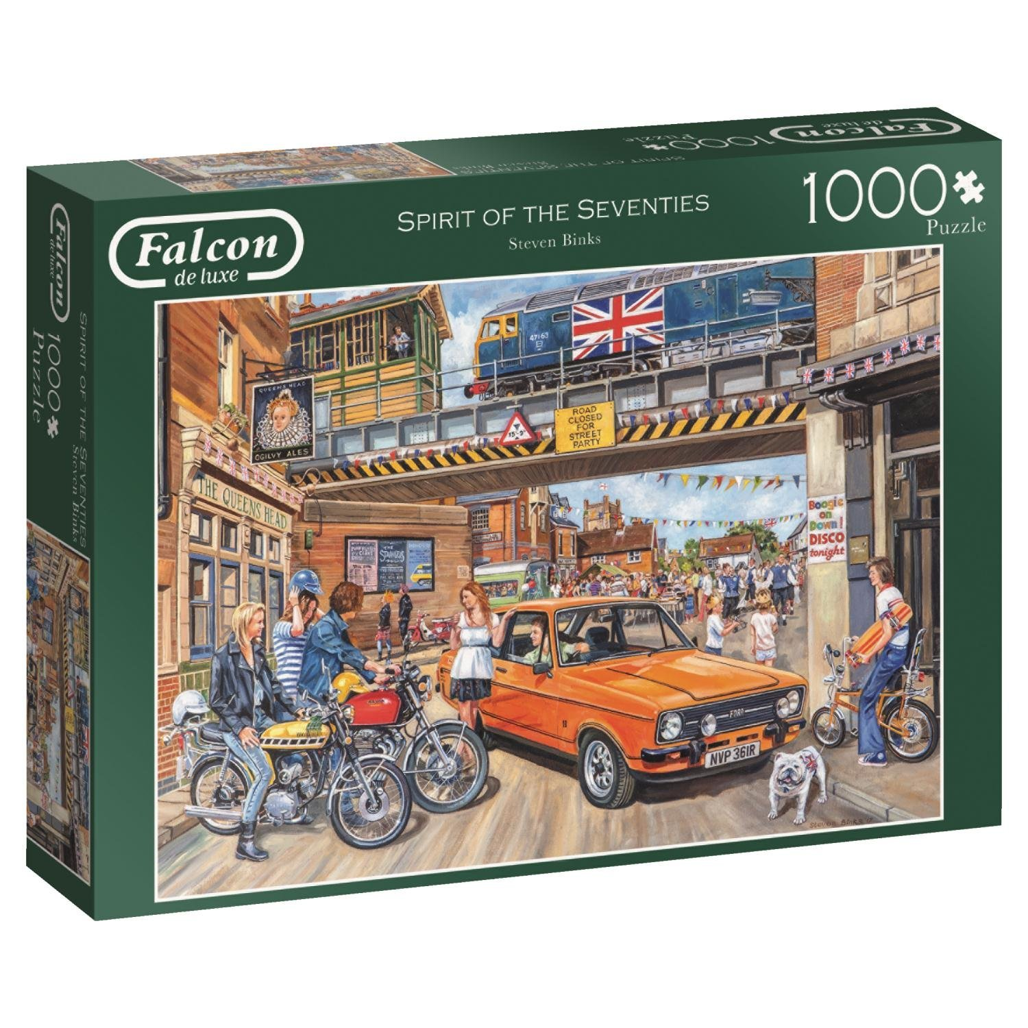 Falcon, Spirit Of The Seventies, 1000pc Jumbo Jigsaw