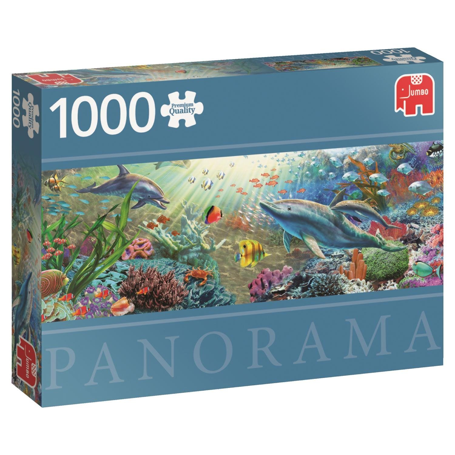 Premium Collection Jumbo, Water Paradise Panoramic, 1000pc Falcon Jigsaw Puzzle