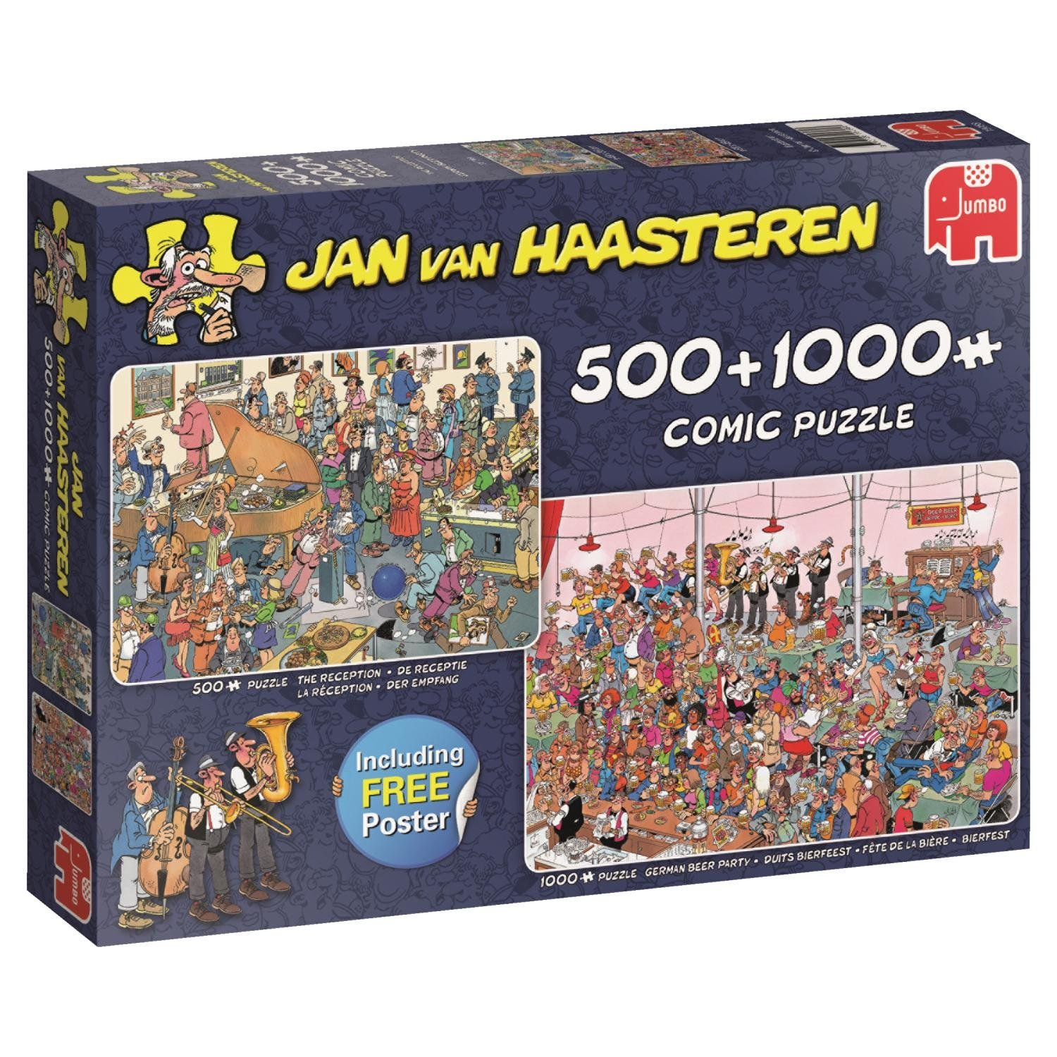 Jan van Haasteren Let's Party! 500 Piece and 1000 Piece Jigsaw Puzzles
