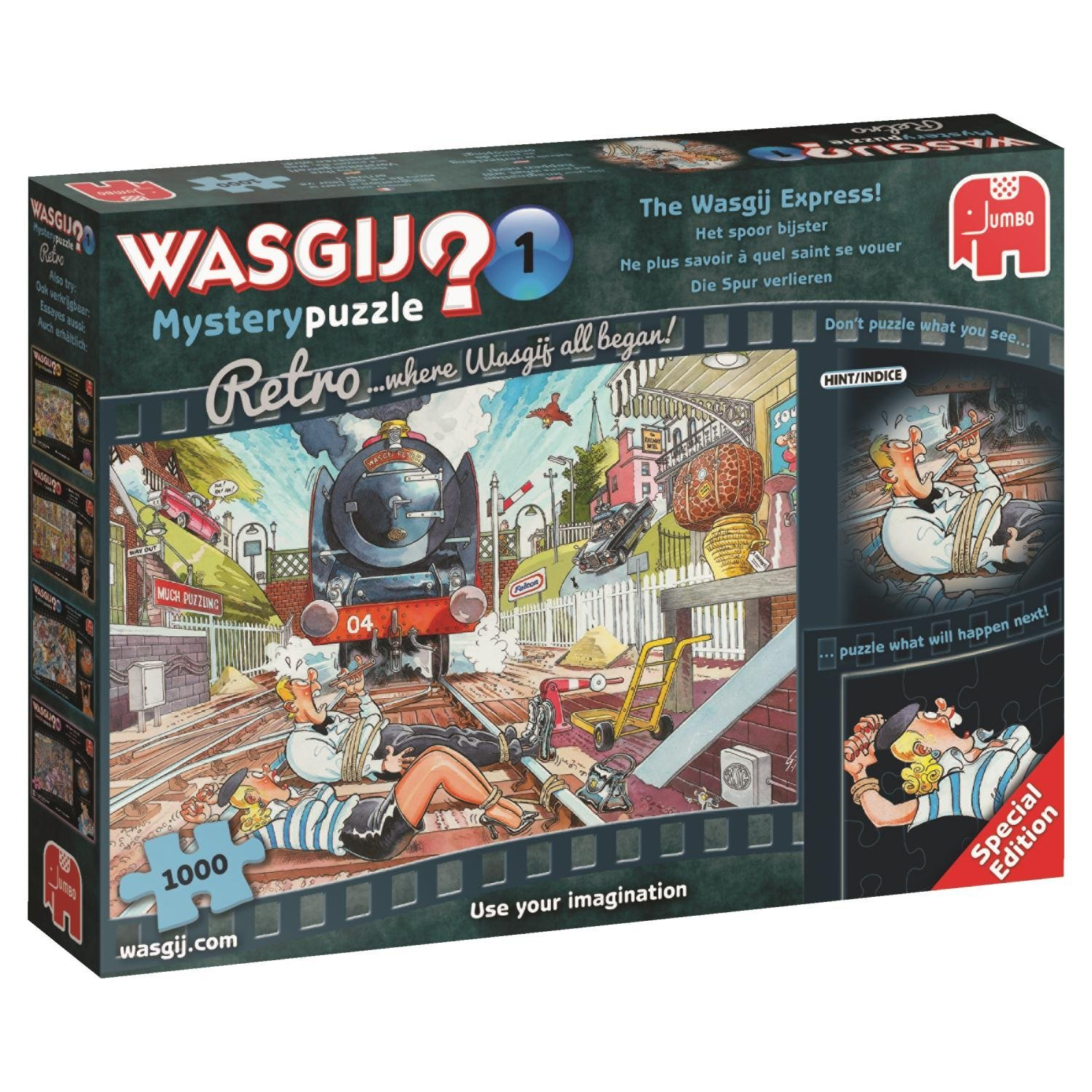 Wasgij Retro Mystery 1, The Express! 1000 Pce, Jigsaw Puzzle