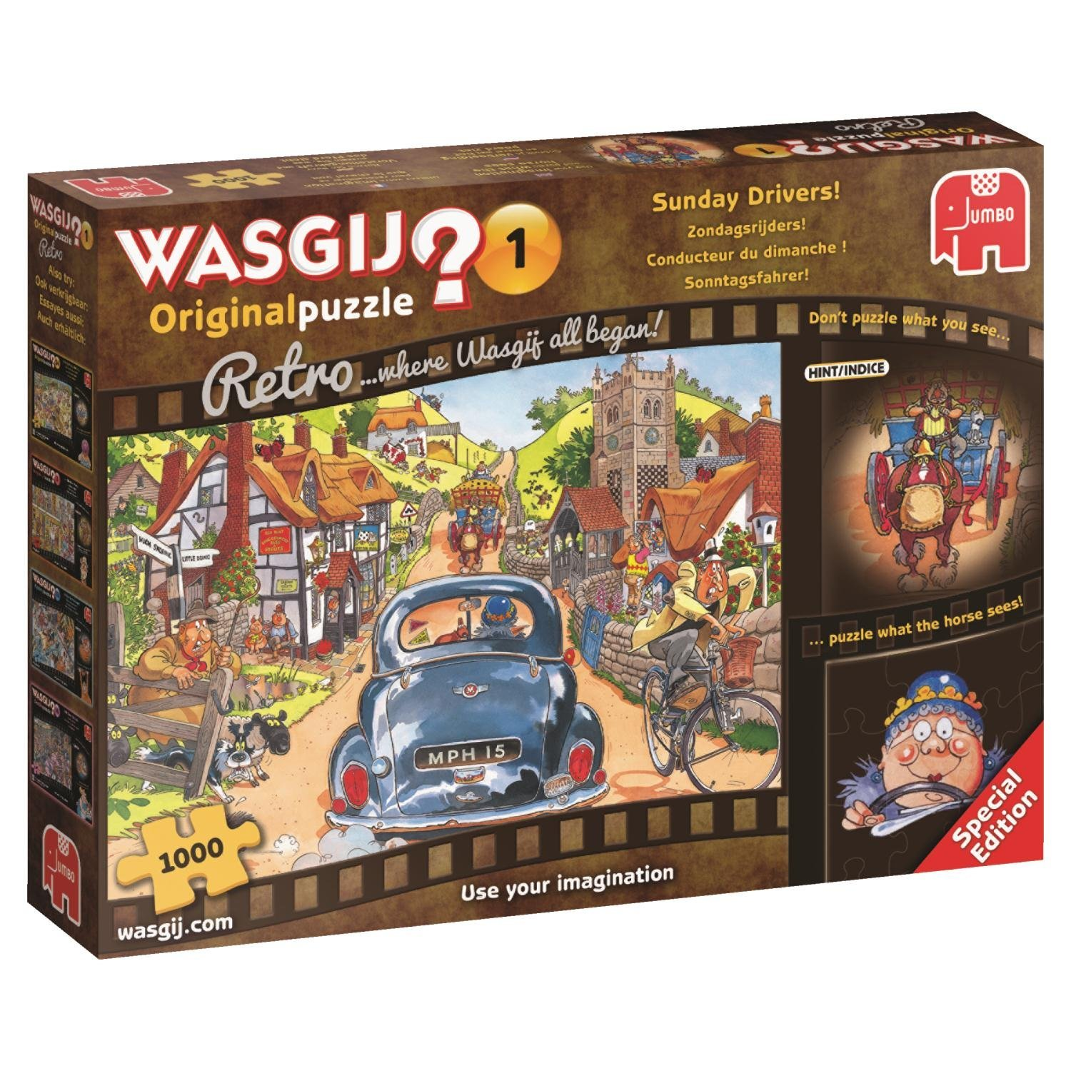 Wasgij Retro Original 1, Sunday Drivers! 1000 Pce Jigsaw Puzzle
