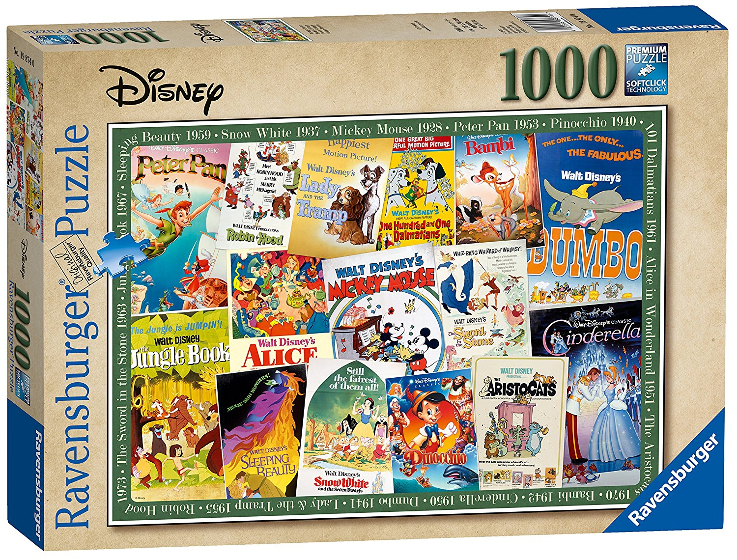 Disney Vintage Movie Posters, 1000pc