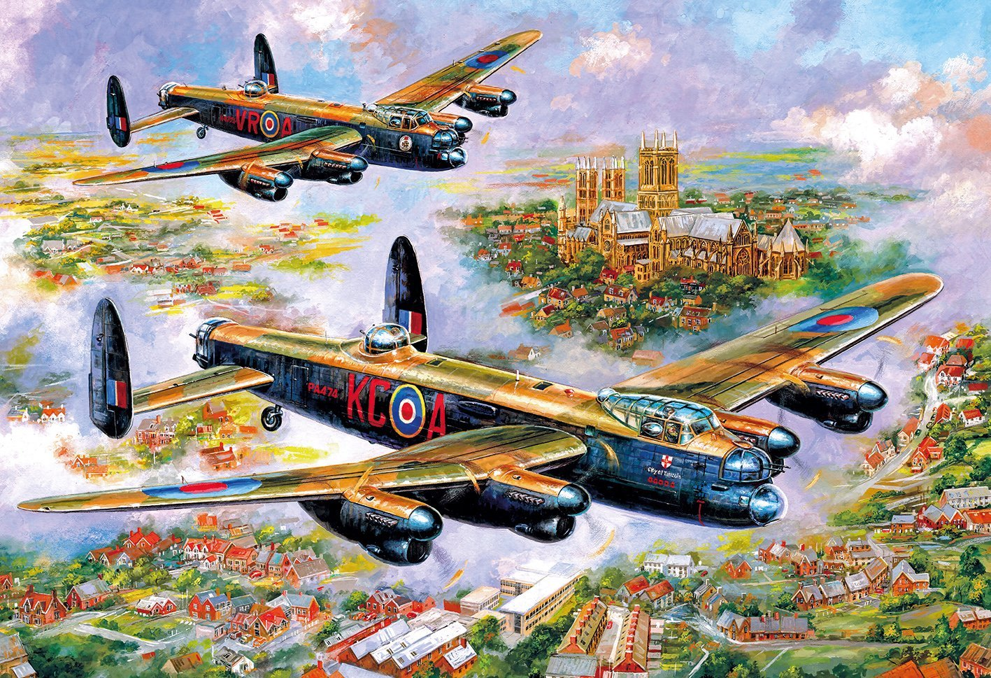 Lancasters Over Lincoln, 500pc puzzle