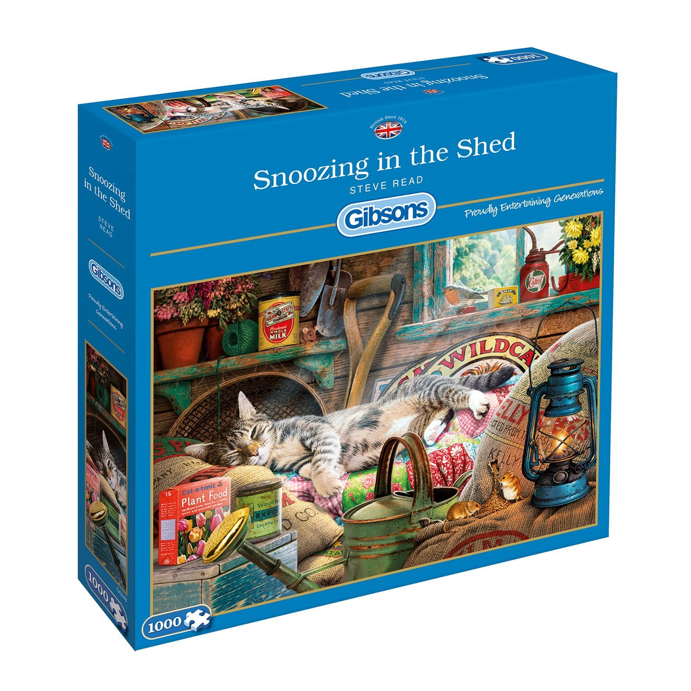 Snoozing In The Shed, 1000pc Puzzle