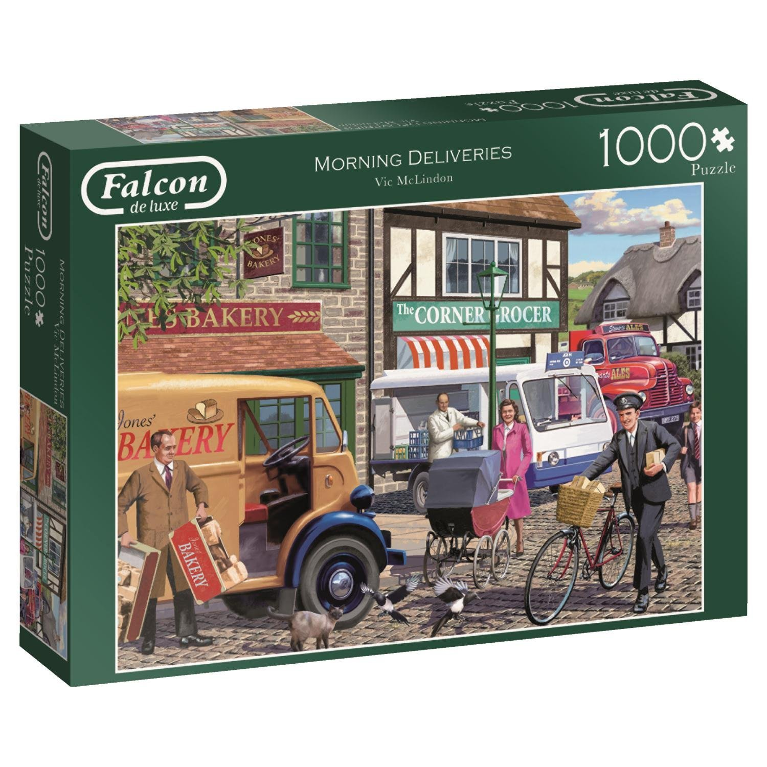 Falcon, Morning Deliveries, 1000pc Jumbo Jigsaw