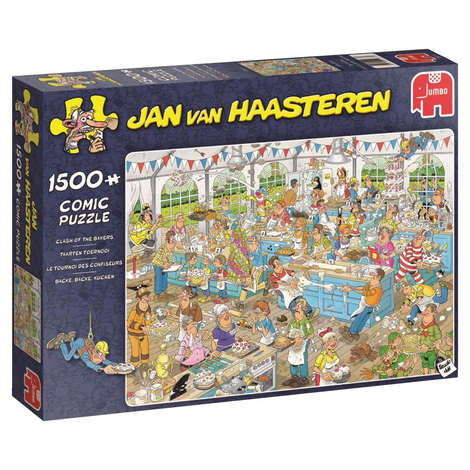 Jan van Haasteren, Food Festival, 2 x 1000pc Jigsaw Puzzle