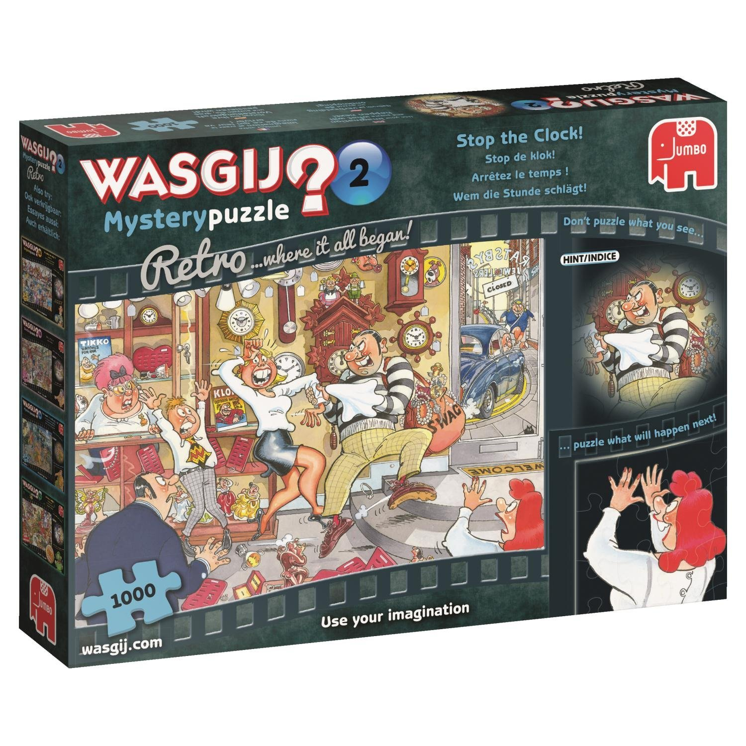 Wasgij Retro Mystery 2, Stop The Clock! 1000 Pce, Jigsaw Puzzle