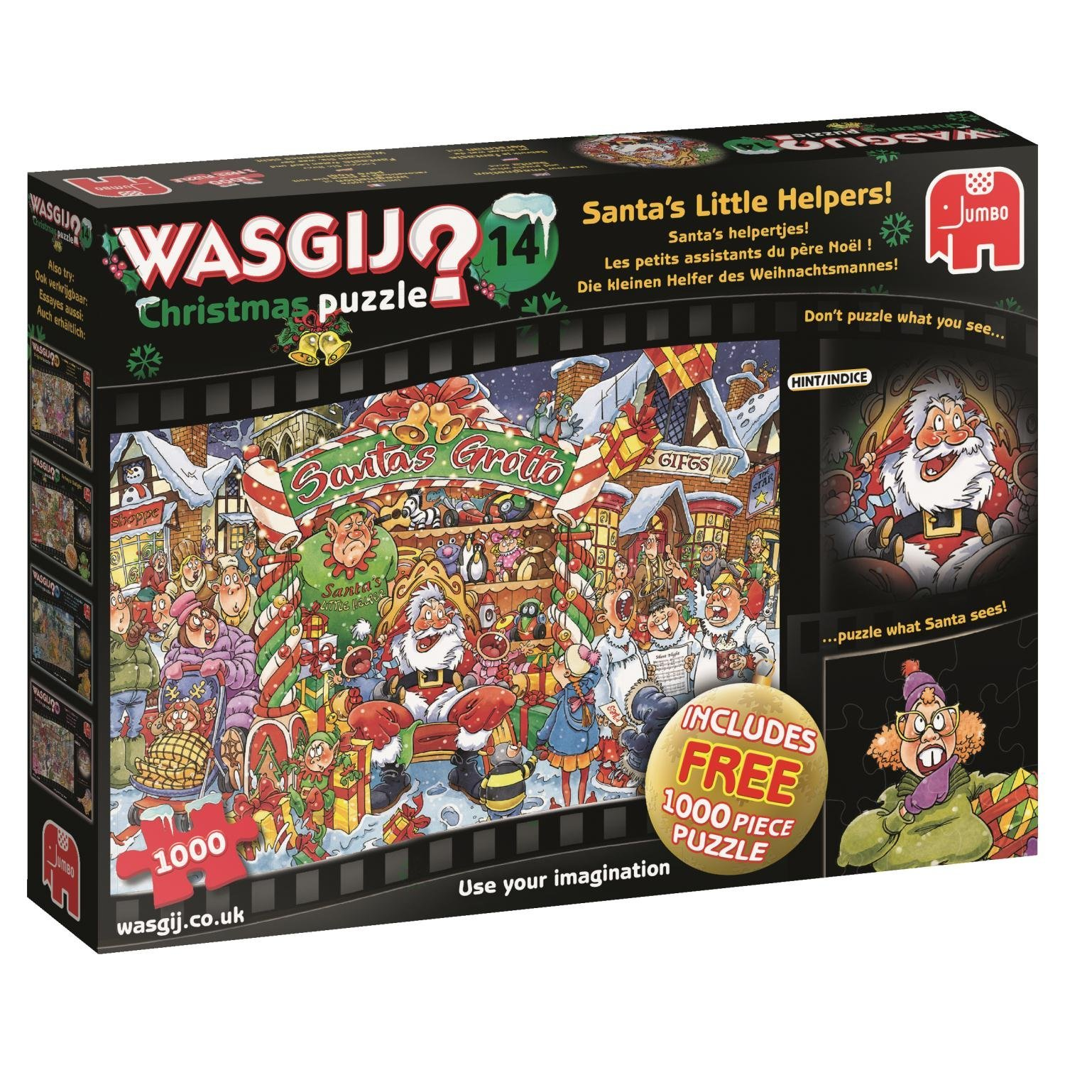 Wasgij Christmas 14, Santa's Little Helpers Jigsaw Puzzle, (2 x 1000-Piece)