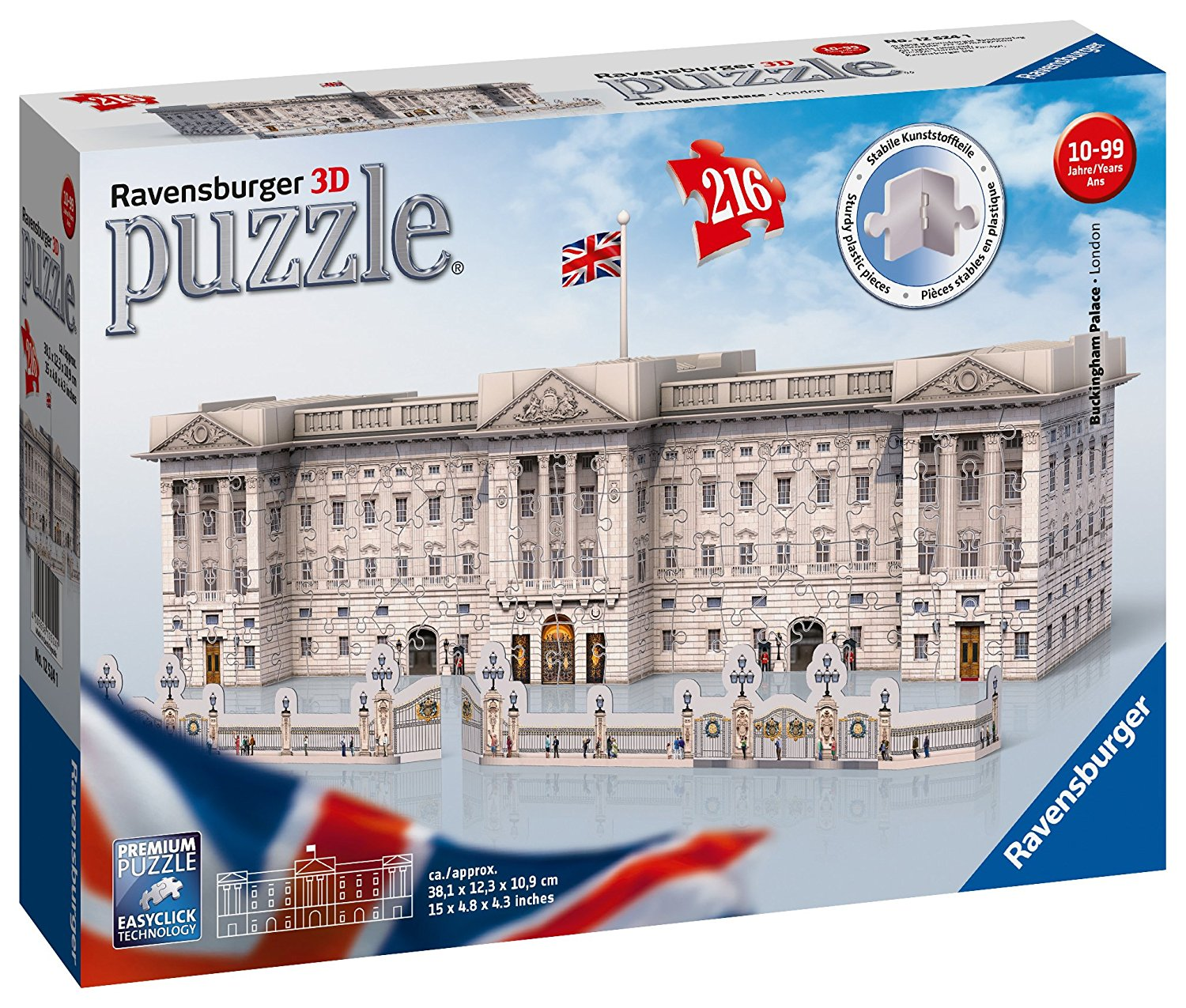 Buckingham Palace, 3D Puzzle, 216pc